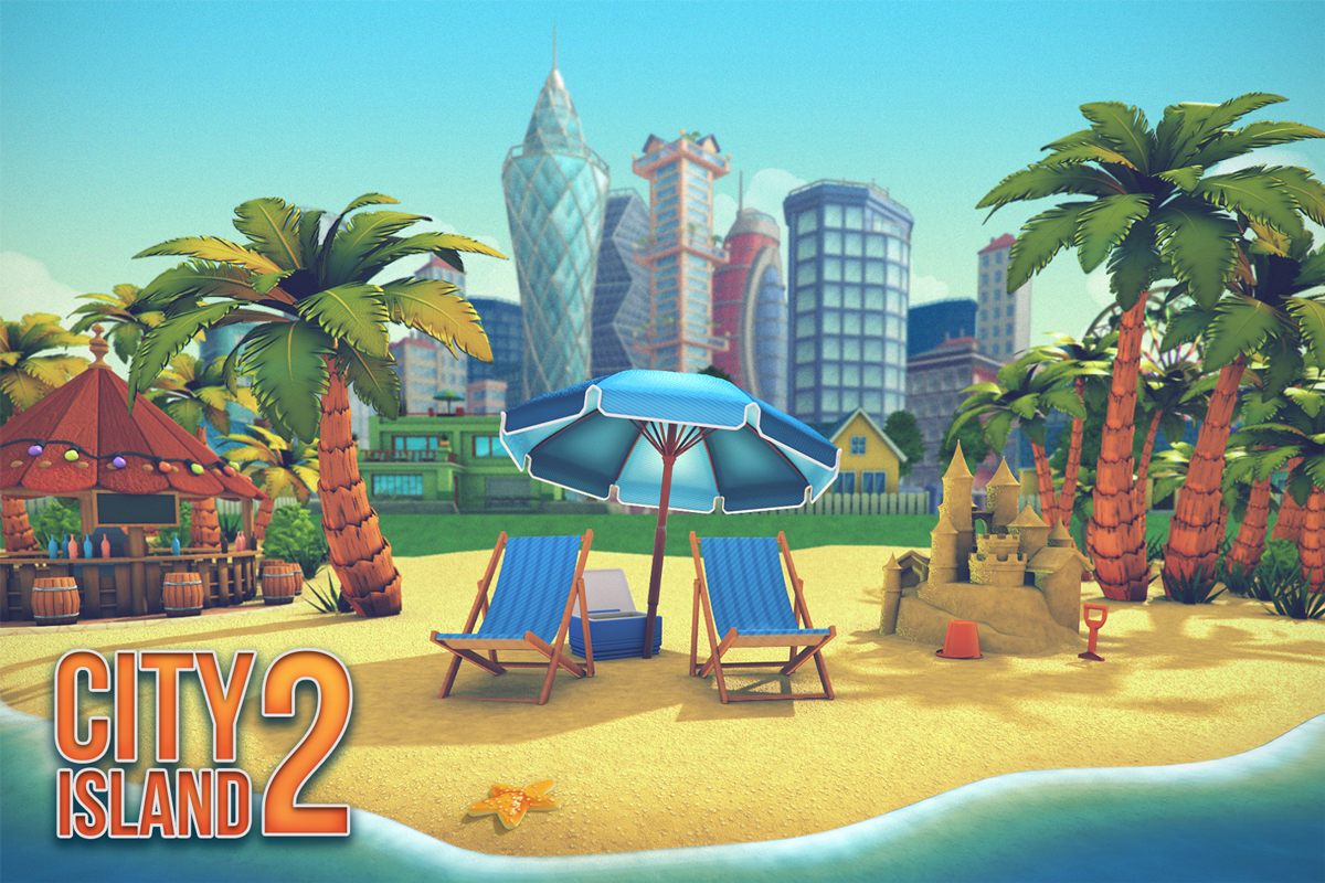 Paradise Island SimCity virtual city playground